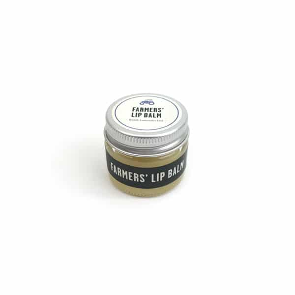 Natural lavender lip balm for dry or chapped lips