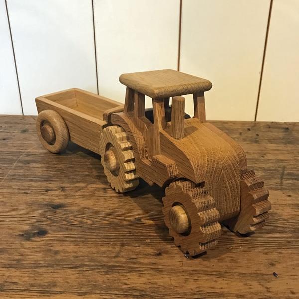 FARMERS' wooden tractors